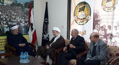گروهی از مجمع تقریب مذاهب اسلامی با جبهه عمل لبنان دیدار کرد