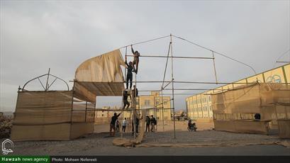 تصاویر/ آماده سازی مزار شهید گمنام در حوزه علمیه خراسان جنوبی