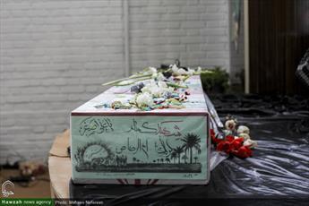 تصاویر/ وداع با پیکر شهید گمنام در حوزه علمیه خواهران نرجس(س) بیرجند