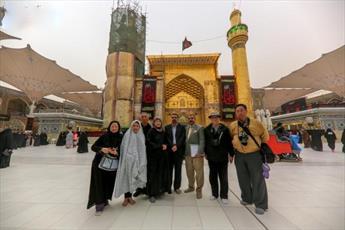 جهانگردان تایوانی به حرم امیر المؤمنین (علیه السلام) مشرف شدند+عکس