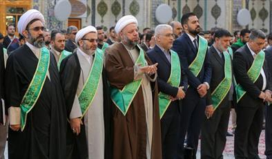 نمایندگان عتبات مقدس ایران، عراق و سوریه در حرم امام علی(ع)+ عکس