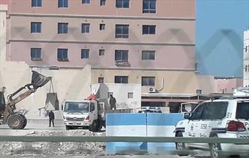 نیروهای آلخلیفه موانع بتنی اطراف شهرک الدراز را افزایش دادند