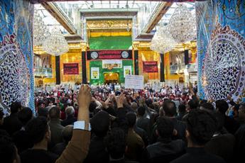 عزاداری رحلت حضرت ام البنین در حرم حضرت عباس(ع) برگزار شد+تصاویر