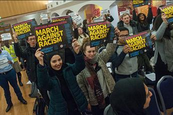 همایش «قیام دانشجویان علیه نژادپرستی» در مرکز لندن برگزار شد