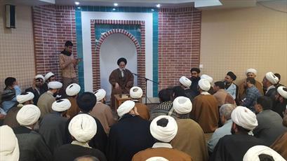 دیدار گروهی از طلاب حوزه قم با نماینده مقام معظم رهبری در عراق
