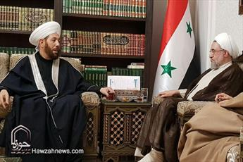 اختصاصی/ آیتالله اراکی با مفتی اعظم سوریه دیدار کرد