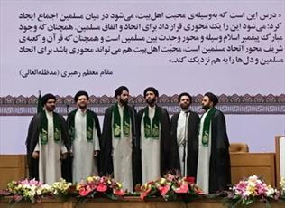 روحانیون سادات تواشیح خوانی کردند+ عکس