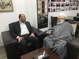 دیدار مسئول سیاسی حماس در لبنان با رئیس اتحادیه علمای مقاومت