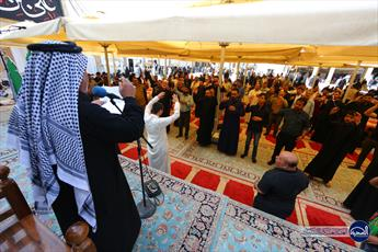 حضور دسته های عزاداری در حرم امامین عسکریین (ع) به مناسبت شهادت امام هادی (ع)+ تصاویر
