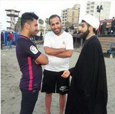 عکس: آتش به اختیار روحانیون در ساحل دریا