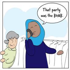 استفاده کاریکاتوریست آمریکایی از کمیک برای تبلیغ حجاب + تصاویر