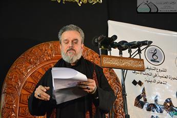 عزاداری شیعیان اهل بیت(ع) در حرم مطهر کاظمین(ع)+تصاویر