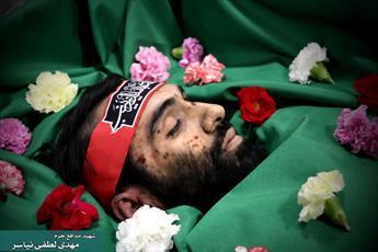 مراسم اولین شب شهادت شهید مدافع حرم  لطفی نیاسر برگزار شد