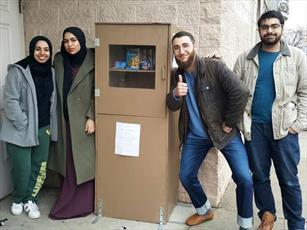دانشجویان انجمن اسلامی در دیترویت، «جعبه برکت» ایجاد کردند