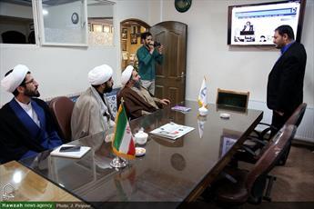 تصاویر/ بازدید معاون سیاسی بسیج اساتید قم از رسانه رسمی حوزه