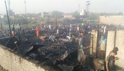 آتش سوزی در کمپ آورگان روهینگیا در هند