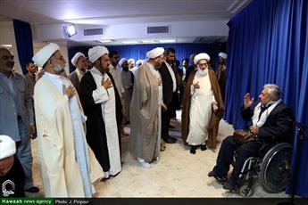تصاویر/ دیدار روحانیون جانباز با آیت الله العظمی نوری همدانی