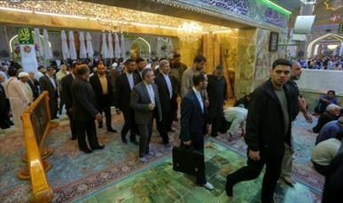 حضور وزیر دفاع ایران در حرم مطهر امیرالمؤمنین (ع)+تصاویر