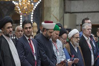 مراسم زیارت خوانی مهمانان جشنواره بهار شهادت + تصایر