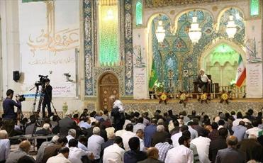 سخنرانی استاد انصاریان درحرم حضرت معصومه (س) آغاز شد