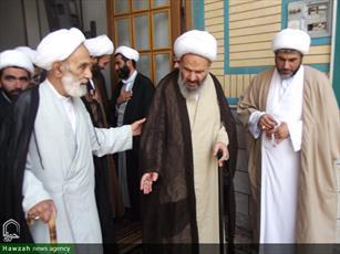 تصاویر/ تجلیل از اساتید حوزه علمیه کاشان