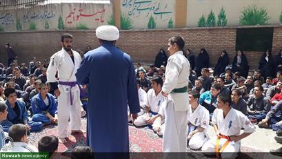 تصاویر/ افتتاح باشگاه ورزشهای رزمی ویژه دانش آموزان محله هرندی تهران