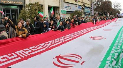 تظاهرات اعتراضی ضد آمریکایی در آذربایجان شرقی