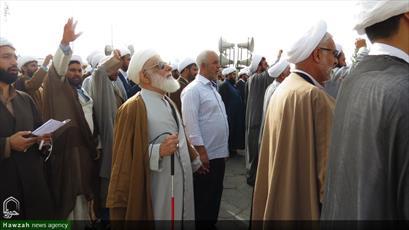 تصاویر/ راهپیمایی روحانیون استان کرمان در اعتراض به اقدامات خصمانه آمریکا