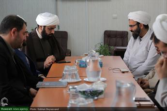 تصاویر/ نشست مدیران رسانه رسمی حوزه با  مدیر و معاونان حوزه علمیه تهران