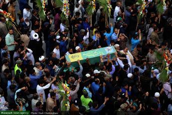 تصاویر/ مراسم تشییع پیکر شهید مدافع حرم در قم