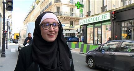 نگرانی سیاستمداران فرانسوی از حجاب نماینده اتحادیه دانشجویی