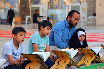 مراسم ترتیل خوانی در حرم امامین عسکریین (ع) برگزار می شود + تصاویر