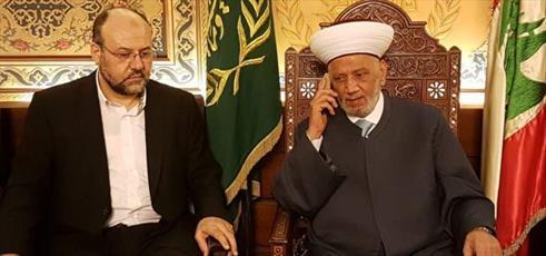 هیئتی به نمایندگی از حماس با مفتی اهل سنت لبنان دیدار کرد