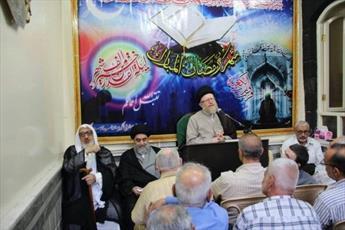 مراسم ایام ماه رمضان در دفتر آیت الله العظمی حکیم در دمشق برگزار می شود + تصاویر