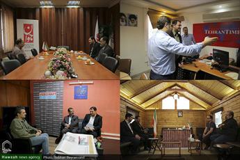 تصاویر/ رایزنی خبرگزاری حوزه با روزنامه های ابتکار، تهران تایمز، جوان و هفت صبح