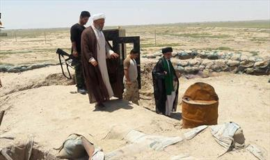 مبلغان آستان مقدس علوی از پایگاه های مرزی بسیج مردمی بازدید کردند+ تصاویر