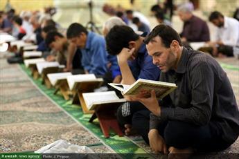 تصاویر/ آئین ترتیل خوانی مسجد امام حسن عسگری(ع)
