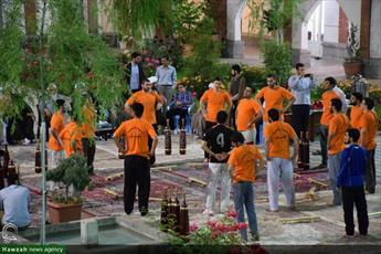 تصاویر ورزش باستانی طلاب و اساتید مدرسه علمیه امام حسن مجتبی(ع) لواسان در سحرهای ماه مبارک رمضان