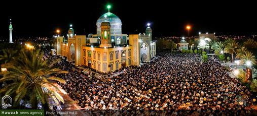 تصاویر/ مراسم احیاء شب نوزدهم ماه مبارک رمضان در امامزاده حسین بن موسی الکاظم(ع) طبس