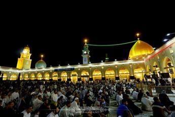 احیای شب قدر در مسجد کوفه و محل ضربت خوردن مولا علی (ع) + تصاویر