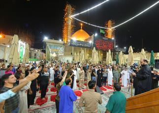 برگزاری مراسم شب قدر و عزاداری امیر المؤمنین (ع) در حرم امامین عسکریین (ع) + تصاویر
