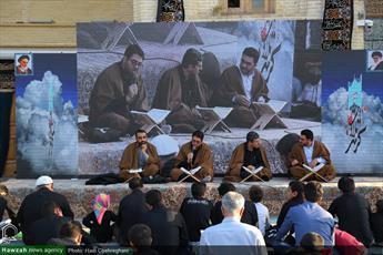تصاویر/ محفل انس با قرآن کریم در گلزار شهدای علی بن جعفر (ع) قم