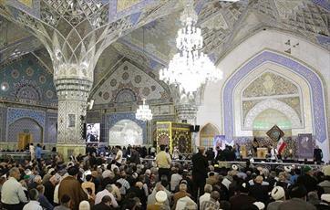 بزرگداشت شهدای قیام ۱۵ خرداد در حرم رضوی برگزار شد