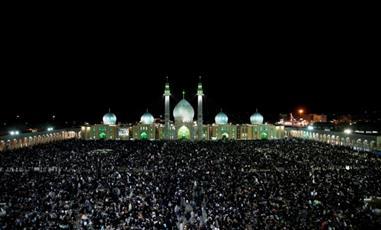 حضور ده ها هزار  نفردر مراسم احیای شب بیست و یکم مسجد جمکران