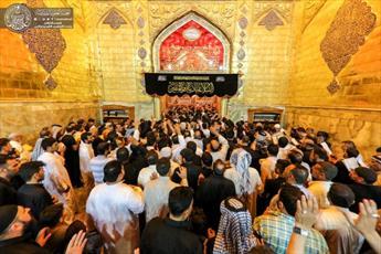 صدها هزار عزادار در حرم امیر المؤمنین (ع) حضور یافتند + تصاویر