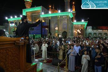 عزاداری شب شهادت امیرالمؤمنین(ع) در حرم امامین کاظمین(ع)+ تصاویر