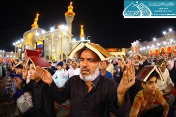 احیای شب قدر در حرم امامین کاظمین (ع) با حضور خیل زائرین + تصاویر