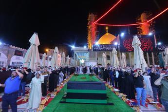 مراسم عزاداری امیرالمؤمنین (ع) و شب قدر در حرم امامین عسکریین(ع) برگزار شد+ تصاویر