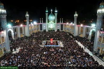 تصاویر/ مراسم احیای شب بیست و یکم ماه رمضان در حرم محمد هلال بن علی آران و بیدگل