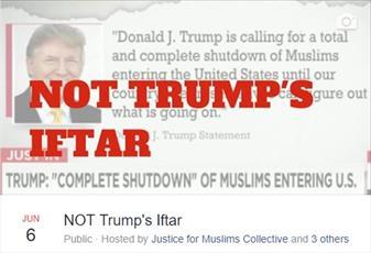 مراسم افطاری «نه به افطار ترامپ» در خارج از کاخ سفید برگزار میشود